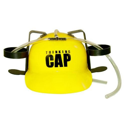 Beer Hat Thinking Cap 2-Can Hard Hat