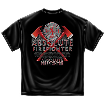 Black Patriotic Absolute Firefighter Tee Shirt