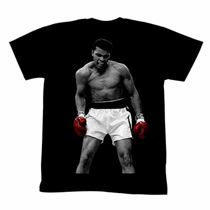 Muhammad Ali Again Mens Black T-Shirt