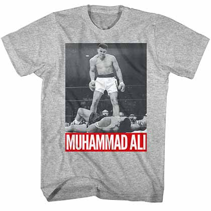 Muhammad Ali Photo Mens Gray T-Shirt