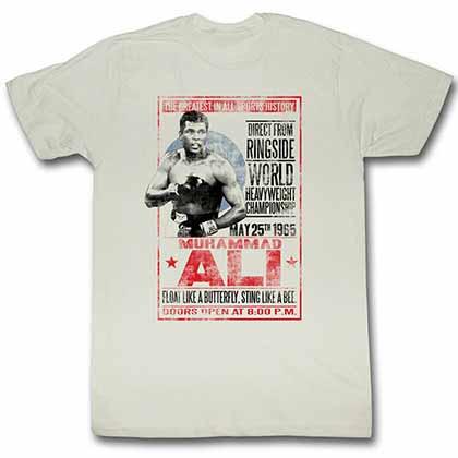 Muhammad Ali 1965 Poster Mens White T-Shirt