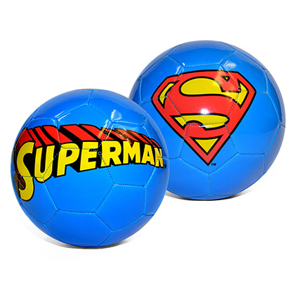 Superman Logo Blue Soccer Ball