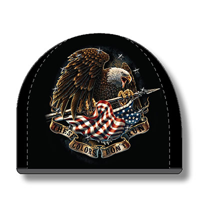 USA Patriotic These Colors Don't Run Black Hat Beanie