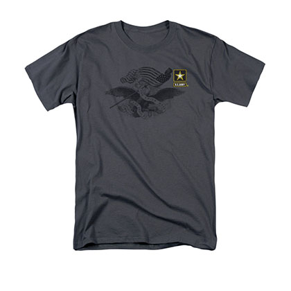 US Army Preserved Left Chest Gray T-Shirt