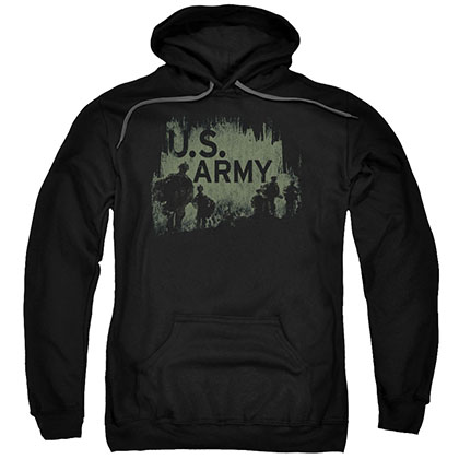 US Army Strong Soldiers Black Pullover Hoodie