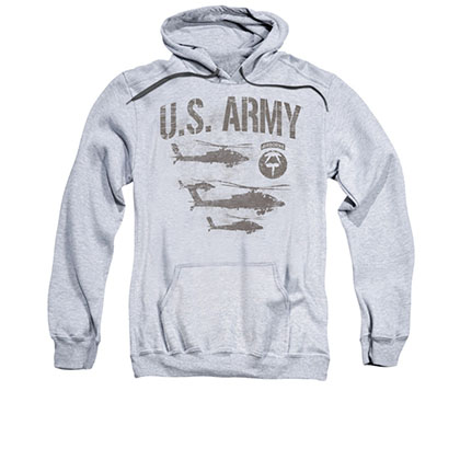 US Army Airborne Gray Pullover Hoodie
