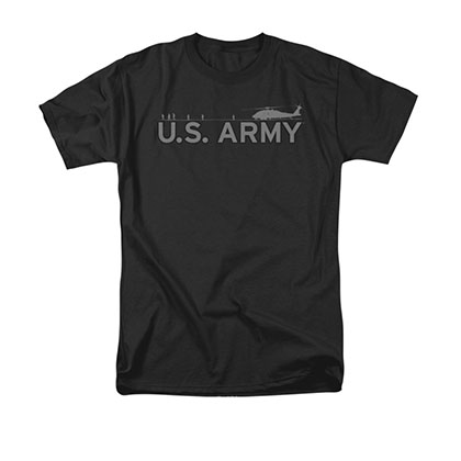 US Army Helicopter Black T-Shirt