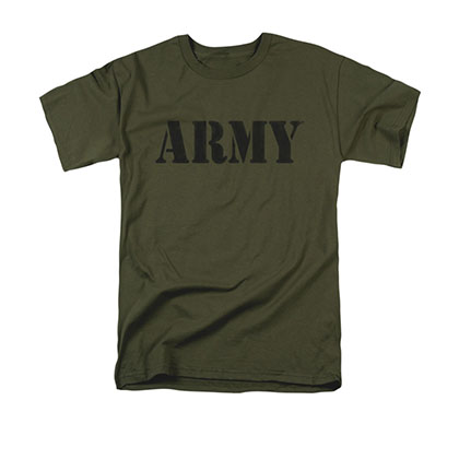 US Army Block Logo Green T-Shirt