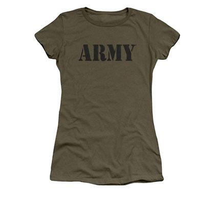 US Army Classic Logo Green Juniors T-Shirt
