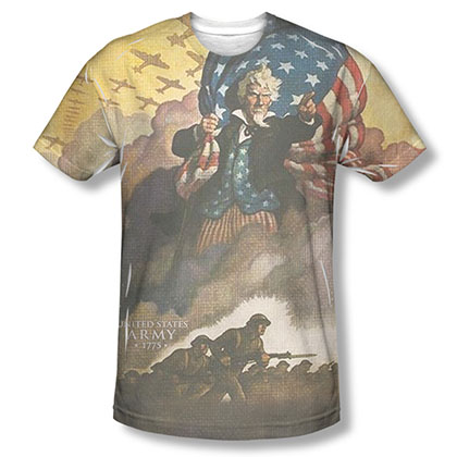 US Army Vintage Poster Sublimation T-Shirt