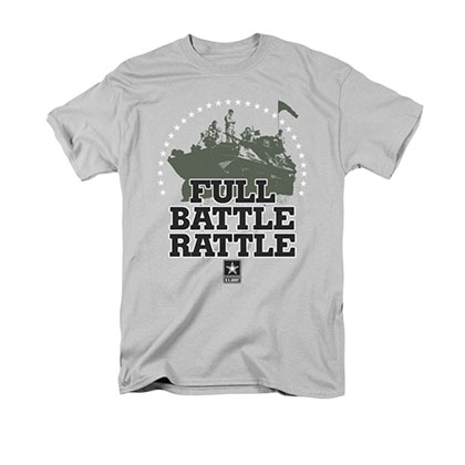 US Army Full Battle Rattle Gray T-Shirt