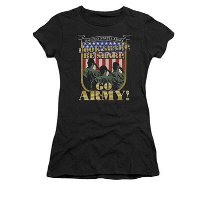 US Army Go Army Black Juniors T-Shirt