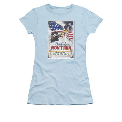 US Army Pearl Harbor Blue Juniors T-Shirt