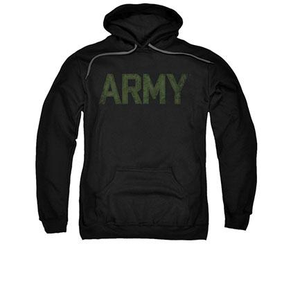 US Army Type Logo Black Pullover Hoodie