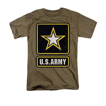 US Army Logo Brown T-Shirt