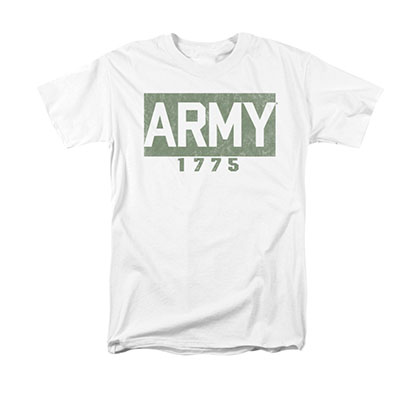 US Army 1775 Block White T-Shirt