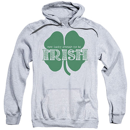 St. Patrick's Day Lucky To Be Irish Gray Pullover Hoodie
