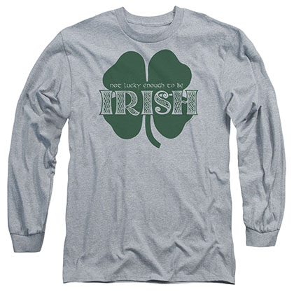 St. Patrick's Day Lucky To Be Irish Gray Long Sleeve T-Shirt