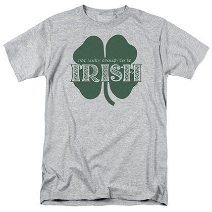 St. Patrick's Day Lucky To Be Irish Gray T-Shirt