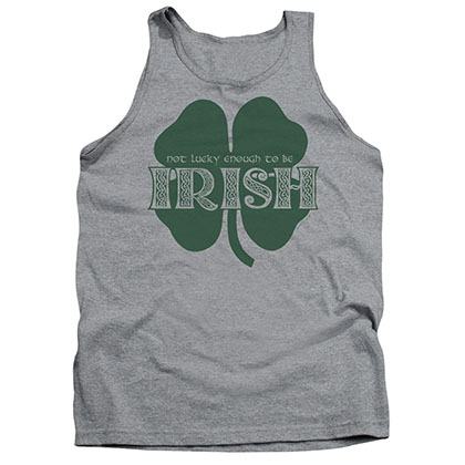 St. Patrick's Day Lucky To Be Irish Gray Tank Top