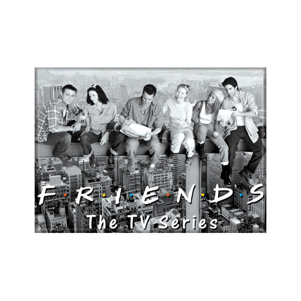 Friends Cast Black And White Magnet