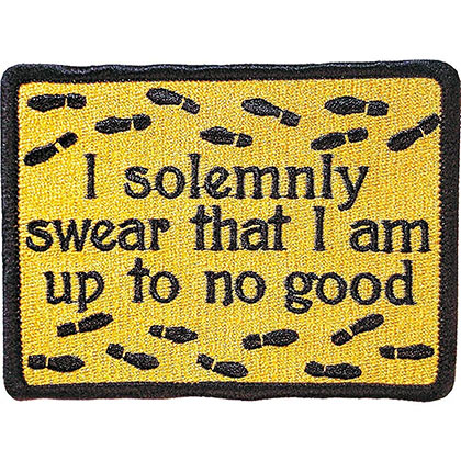 Harry Potter Solemnly Swear Iron-On Patch