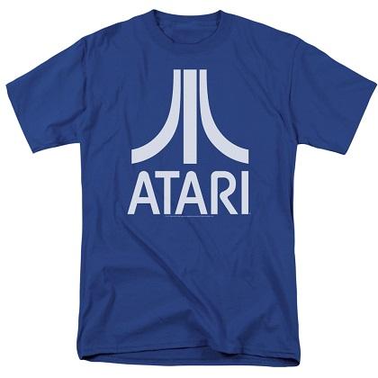 Atari Logo Blue Tshirt