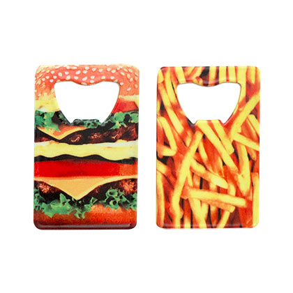 Cheeseburger Card Bottle Opener
