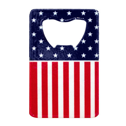 AMERICAN FLAG CARD BOTTLE OPENER PLACEHOLDER
