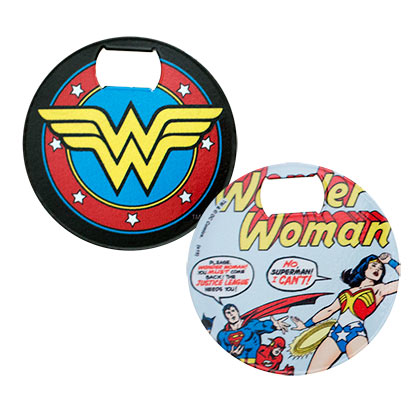 WONDER WOMAN LOGO BOTTLE OPENER COASTER PLACEHOLDER