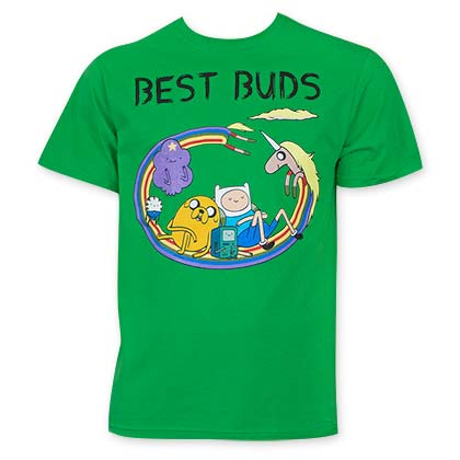 Adventure Time Green Best Buds Men's T-Shirt