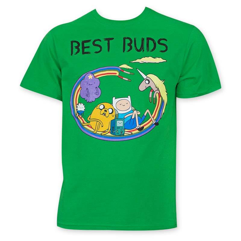 Adventure Time Green Best Buds Men's T-Shirt