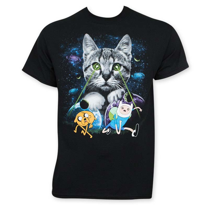 Adventure Time Cat Laser Eyes T-Shirt
