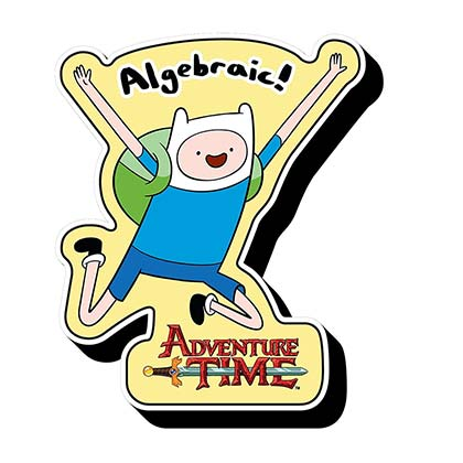 Adventure Time Die Cut Algebriac Magnet