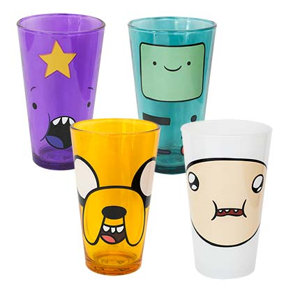 Adventure Time Set Of Four Pint Glasses