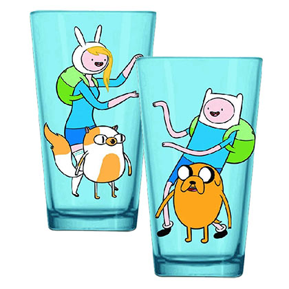 Adventure Time Finn And Fionna Pint Glass