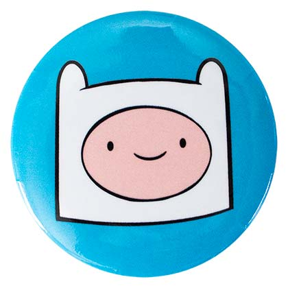 Adventure Time Round Finn Button