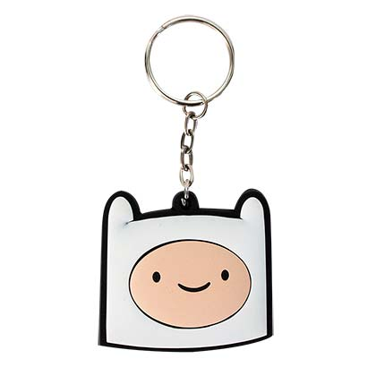 Adventure Time White Finn Keychain