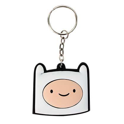 Adventure Time Rubber Finn Keychain