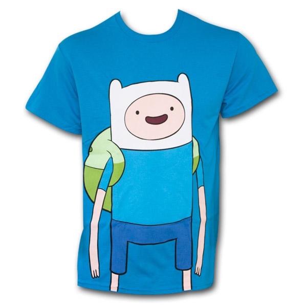 Adventure Time Men's Blue Large Finn T-Shirt