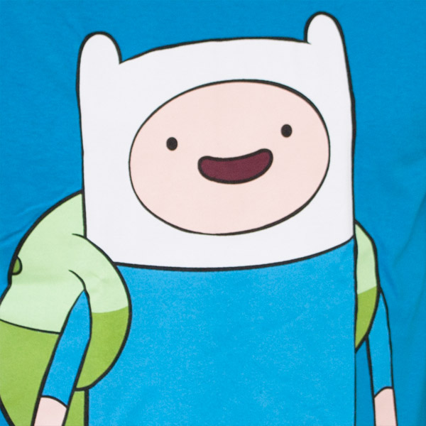 Adventure Time Large Finn T-Shirt - Blue
