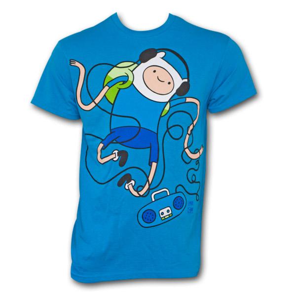 Adventure Time Dancing Finn T-Shirt - Blue