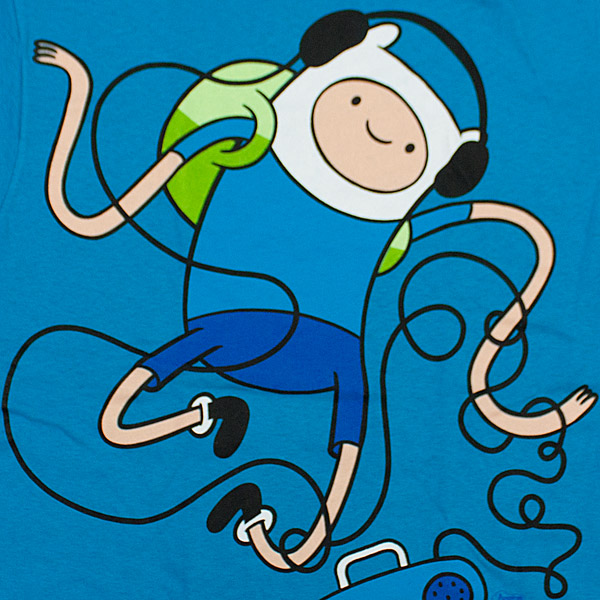 Adventure Time Dancing Finn T-Shirt - Blue
