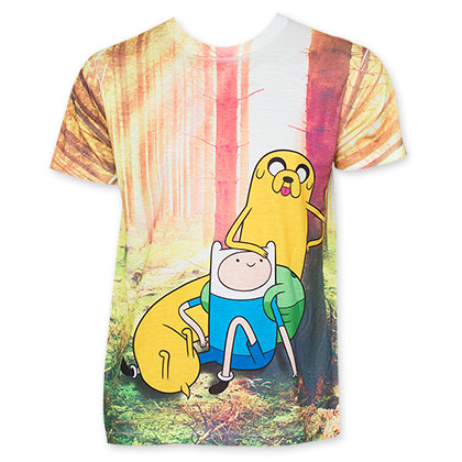 Adventure Time Sublimated Forest Tee Shirt