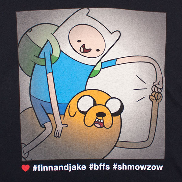 Adventure Time Finn and Jake Hashtags Tee - Black