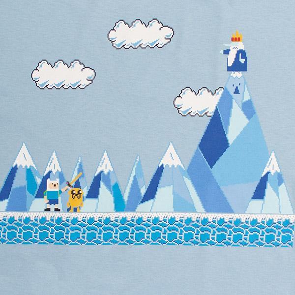 Adventure Time 8-Bit Video Game Ice King Tee - Blue