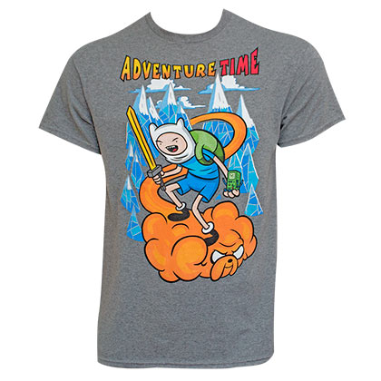 Adventure Time Men's Jake Cloud Grey T-Shirt