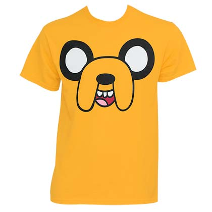 Adventure Time Jake Face T-Shirt - Yellow