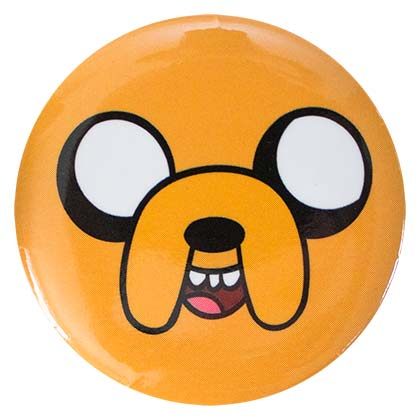 Adventure Time Yellow Jake Button