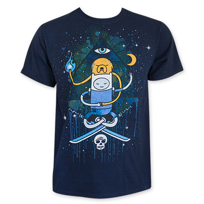 Adventure Time Men's Navy Blue Illuminate Tee Shirt
